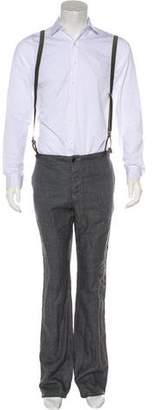 John Varvatos Linen Suspender Pants