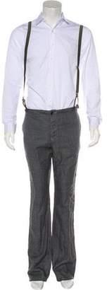 John Varvatos Linen Suspender Pants