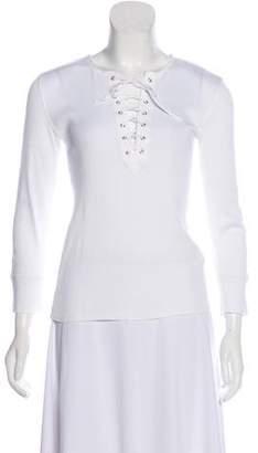 Ralph Lauren Lace-Up Long Sleeve Top
