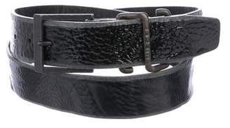 Diesel Patent Leather Buckle Belt w/ Tags