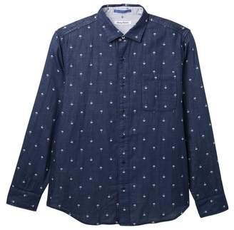 Tommy Bahama Twin Palms Linen Regular Fit Shirt (Big & Tall)