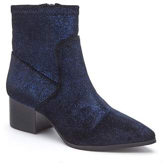 Matisse Dotty Pointed Toe Velvet Bootie