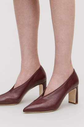Cos PIPING-TRIMMED LEATHER HEELS