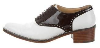 Robert Clergerie Bicolor Pointed-Toe Oxfords