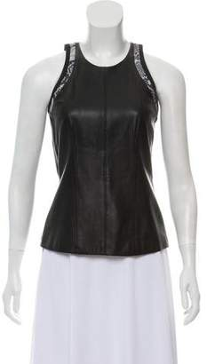 Helmut Lang Leather Sleeveless Top