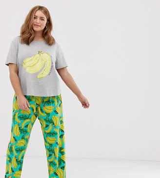 Asos DESIGN Curve mix & match pyjama bananas about you jersey t-shirt