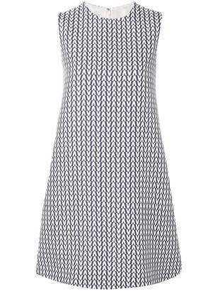 Valentino geometric print shift dress