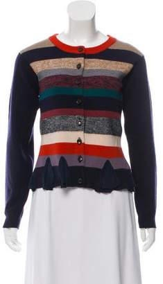 Marc by Marc Jacobs Striped Wool-Blend Cardigan