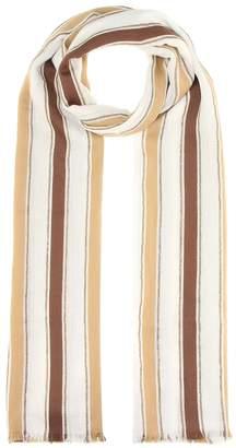 Brunello Cucinelli Cotton and linen-blend scarf