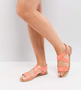 Asos DESIGN FELIZ Wide Fit Flat Sandals
