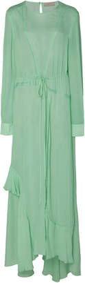 Preen Line Brea Tie-Detailed Georgette Midi Dress Size: XS