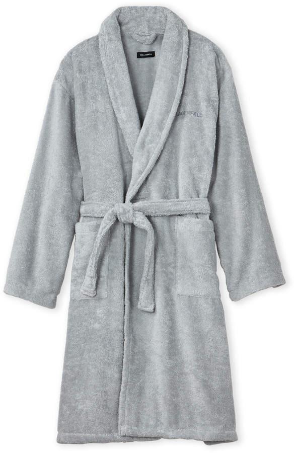 Karl Lagerfeld Small/Medium Pearl Terry Cloth Robe