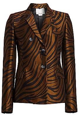 3.1 Phillip Lim Women's Zebra Jacquard Blazer - Size 0