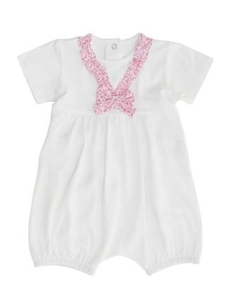 Absorba Liberty Ruffle And Bow Romper Suit