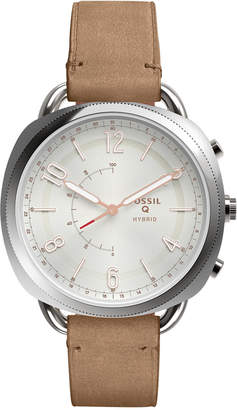 Fossil Q Women's Accomplice Sand Leather Strap Hybrid Smart Watch 38x40mm $155 thestylecure.com