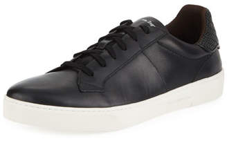 Ermenegildo Zegna Men's Vulcanizzato Leather Low-Top Sneaker