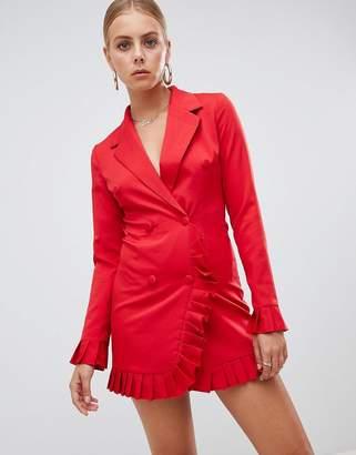 Missguided Pleat Trim Blazer Dress