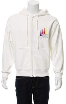 Alexander Wang Logo Zip-Up Hoodie w/ Tags white Logo Zip-Up Hoodie w/ Tags
