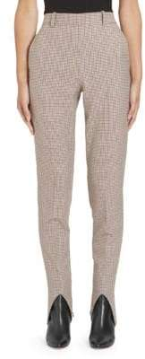 Givenchy Micro Check Stirrup Pants