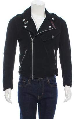 Burberry Perforated Suede Biker Jacket