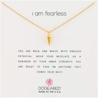 Dogeared I Am Fearless Faceted Spear Chain Necklace