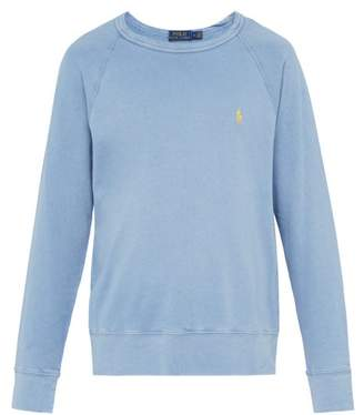 Polo Ralph Lauren Logo Embroidered Cotton Terry Sweatshirt - Mens - Blue