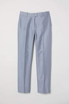 H&M Silk-blend Slacks - Gray