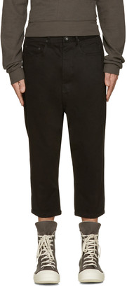 Rick Owens Drkshdw Black Cropped Astaires Trousers $430 thestylecure.com