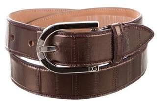 Dolce & Gabbana Eel Skin Waist Belt