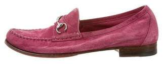 Gucci Horsebit Round-Toe Loafers