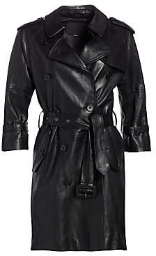 top-rated lovely design better price for Trench Coat With Leather Sleeves - ShopStyle