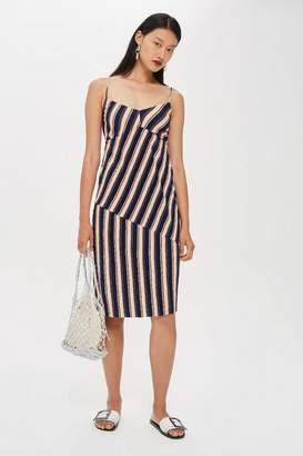 Topshop Mix Stripe Slip Dress