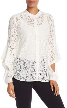 BCBGMAXAZRIA Long Sleeve Ruffle Shirt