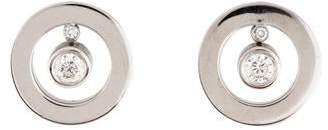 Roberto Coin 18K Diamond Circle Drop Earrings