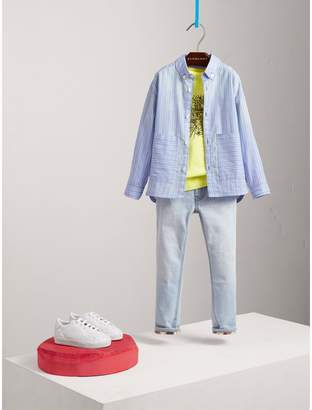 Burberry Contrast Pocket Cotton Shirt