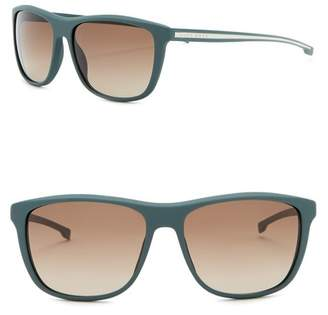 BOSS 57mm Square Sunglasses