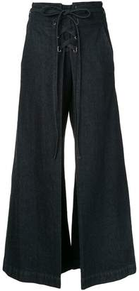Miharayasuhiro cropped lace-up trousers