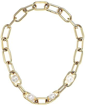 Michael Kors Pearl Link Collar Necklace Necklace