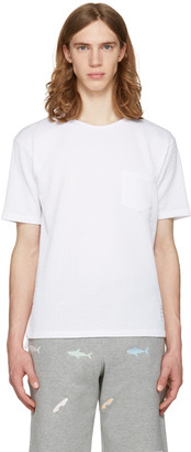 Thom Browne White Pocket T-Shirt $450 thestylecure.com