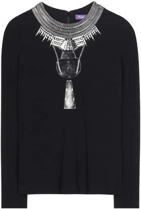Ralph Lauren Janine embellished crepe blouse