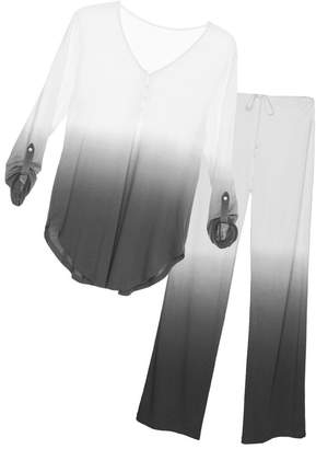 Cosabella Bella Ombre Long Sleeve Top Pant Pajama Set