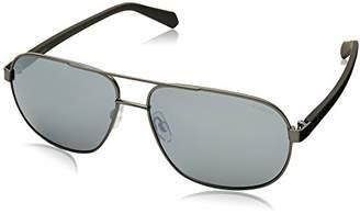 Polaroid Men's PLD 2059/S EX R80 Sunglasses, Smatte Dark Ruthenium Grey