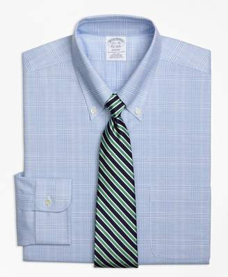 Brooks Brothers BrooksCool Regent Fitted Dress Shirt, Non-Iron Glen Plaid