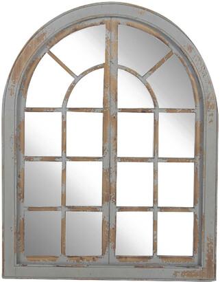 Uma Enterprises Classic Arched Window Design Decorative Wall Mirror