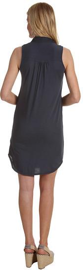 Three Dots Sleeveless Shirt Dress w/ Woven Detail