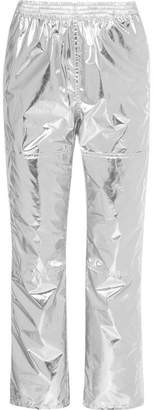 MM6 MAISON MARGIELA Metallic Coated-shell Track Pants - Silver