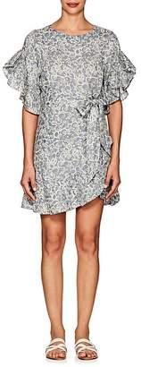 Etoile Isabel Marant Women's Delicia Floral Linen Wrap Dress