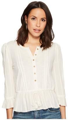 Lucky Brand Prairie Peplum Top Women's Clothing
