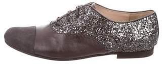 Christian Dior Glitter Cap-Toe Oxfords