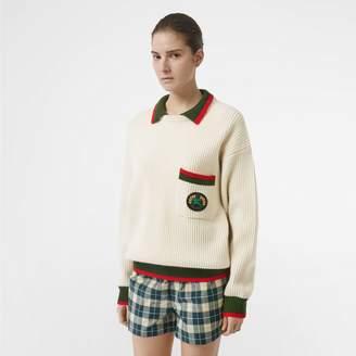 Burberry Rib Knit Wool Cashmere Sweater